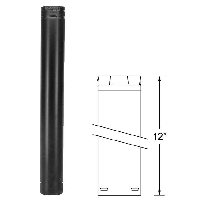 Duravent Pelletvent Pro 12 Quot Black Pipe Length 3pvp 12b