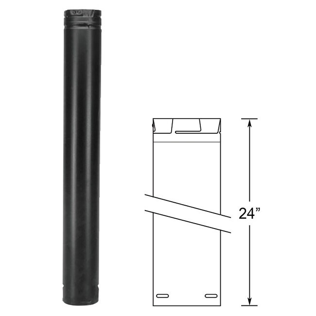 Duravent Pelletvent Pro 24 Quot Black Pipe Length 3pvp 24b