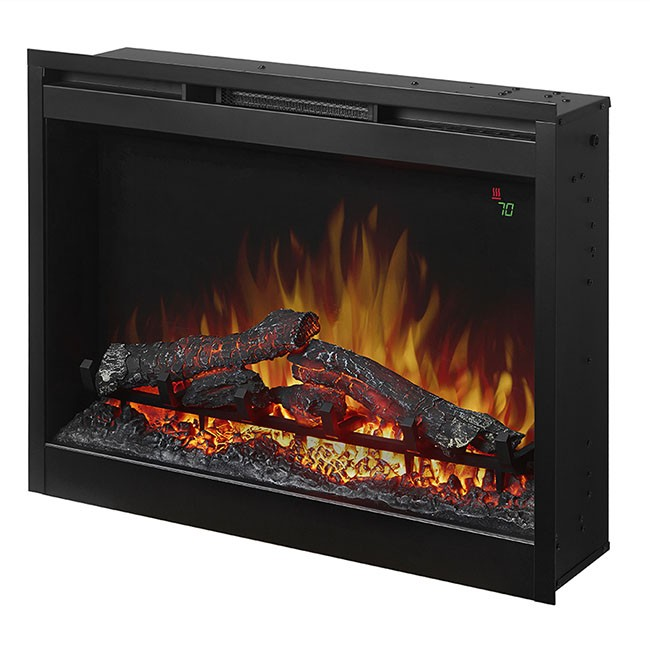 "Plug In Electric Fireplace Inserts: Dimplex 26"" Plug-In Electric Firebox W/Logs"