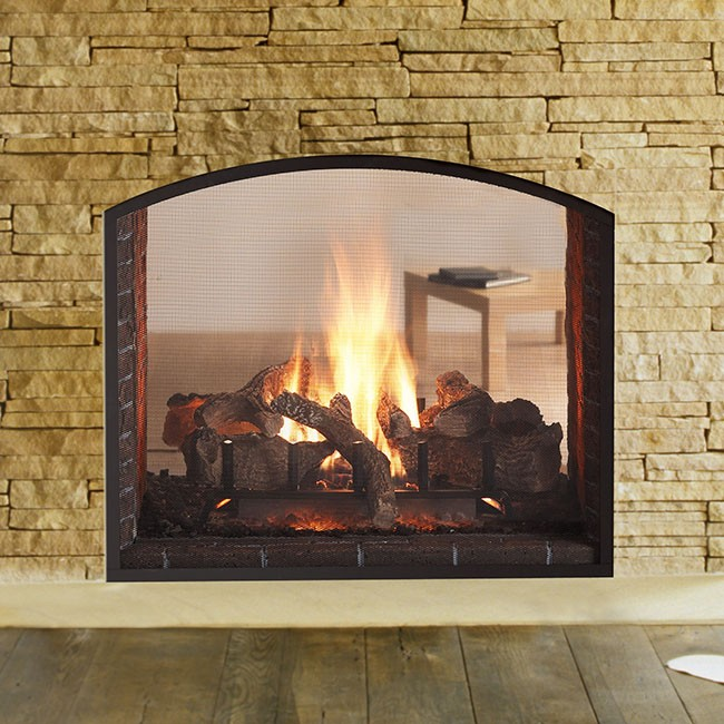 Heat glo escape see through for See thru fireplaces