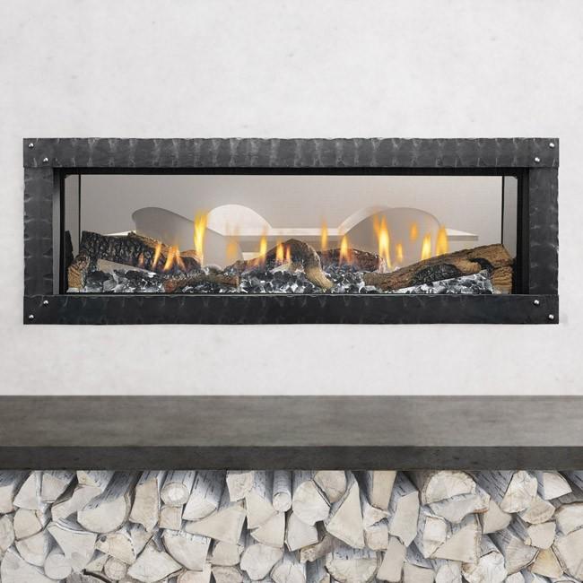 Heat glo mezzo 60 see through for Through fireplace