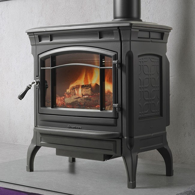 Hearthstone Shelburne Wood Stove - Matte Black - Hearthstone Shelburne
