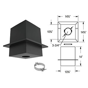 DuraVent PelletVent Pro Cathedral Ceiling Support Box 3PVP-CS