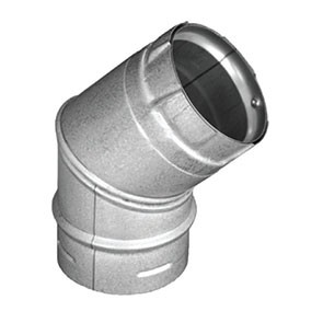 DuraVent PelletVent Pro 45 Degree Elbow Galvanized 3PVP-E45