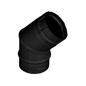 DuraVent PelletVent Pro 45 Degree Elbow Black 3PVP-E45B