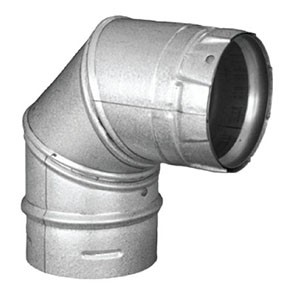 DuraVent PelletVent Pro 90 Degree Elbow Galvanized 3PVP-E90