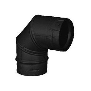 DuraVent PelletVent Pro 90 Degree Elbow Black 3PVP-E90B