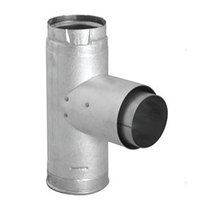 DuraVent PelletVent Pro Adapter Tee w/Clean-Out Tee Cap 3PVP-TAD