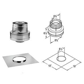 DuraVent DirectVent Pro Horizontal Termination Kit C 46DVA-KMC