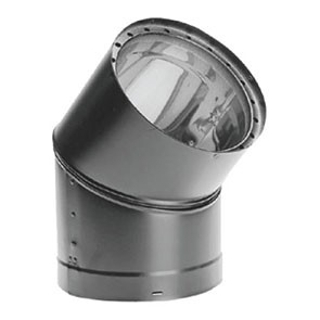 DuraVent DVL Double-Wall Black 45 Degree Elbow 8645