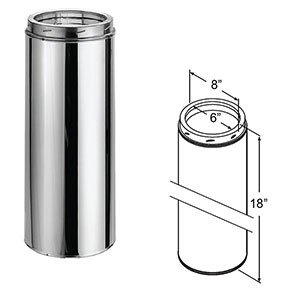 "DuraTech Stainless Steel Chimney Pipe - 18"" 9404"