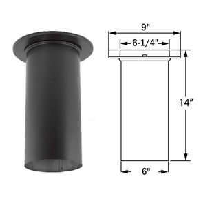 DuraVent DuraBlack Slip Connector 6DBK-SC