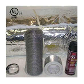 "6"" X 25' Insulation Kit Wrap, Mesh, Glue, Clamp, Tape INK-625"