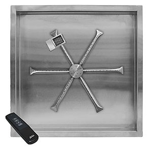 Stainless Steel Square Pan Burner System (TFS)