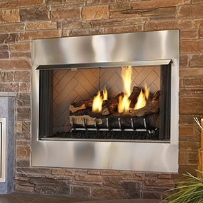 Heat & Glo Outdoor Lifestyles Villa-42 Gas Fireplace