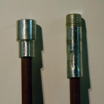 """Brush Rod - 4ft, .350 dia, 1/4"""" NPT"""