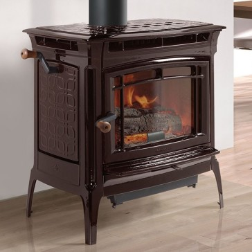 Hearthstone Manchester Wood Stove - Brown Majolica