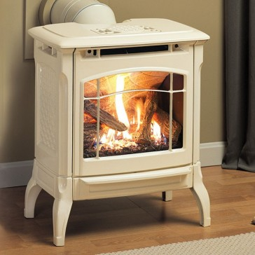 Hearthstone Stowe Gas Stove - Oyster Enamel