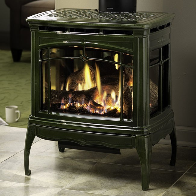 Lennox 3 Sided Propane Fireplace: Hearthstone Bristol DX
