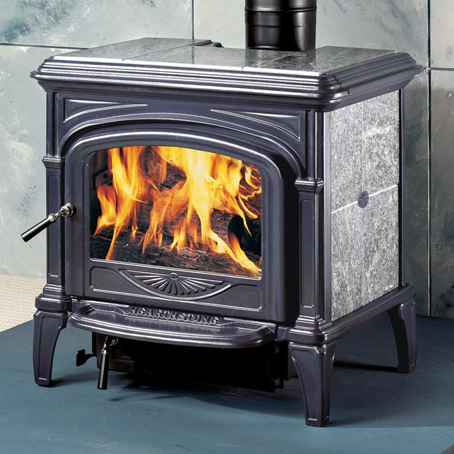 Hearthstone Phoenix Wood Stove Blue Black Enamel