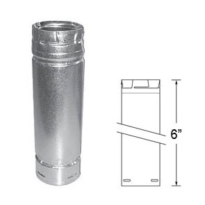 "DuraVent PelletVent Pro 6"" Galvanized Pipe Length 3PVP-06"