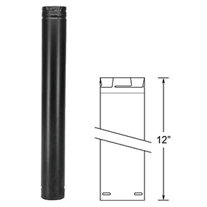 "DuraVent PelletVent Pro 12"" Black Pipe Length 3PVP-12B"
