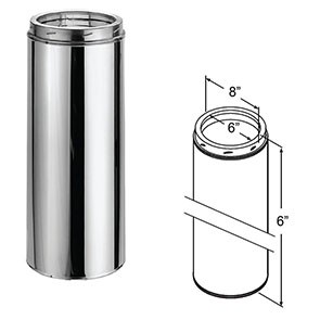 "DuraTech Stainless Steel Chimney Pipe - 6"" 9402"