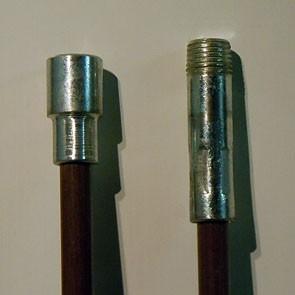 """Fiberglass Chimney Rod - 6' x .350"""", 1/4"""" NPT"""