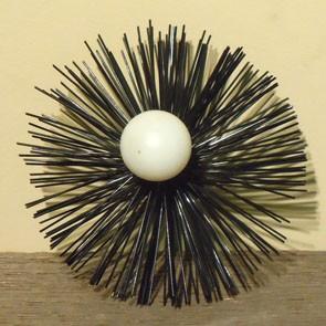 "4"" Pellet Vent Brush - 1/4""-20 Thread, Nylon Bristle"