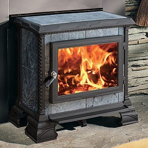 Hearthstone Homestead Hearthmount Wood Stove - Matte Black