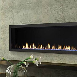 Heat & Glo MEZZO 48 Gas Fireplace with Clean Face Trim