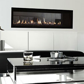 Heat & Glo MEZZO 72 See-Through Gas Fireplace with Clean Face Trim