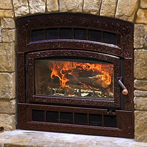 Hearthstone Montgomery WFP-75 Wood Fireplace - Brown