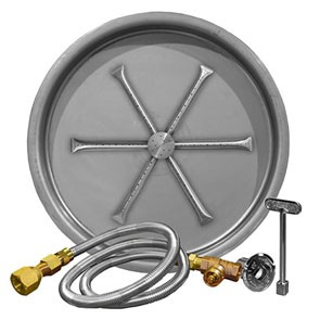 Stainless Steel Round Pan Burner System