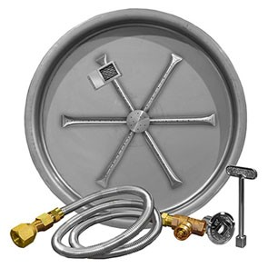 Stainless Steel Round Pan Burner System (TMS)