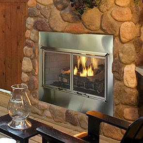 Heat & Glo Outdoor Lifestyles Villa-36 Gas Fireplace